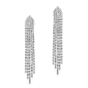 rhinestone clip-on earrings with a shower of shimmery crystals.