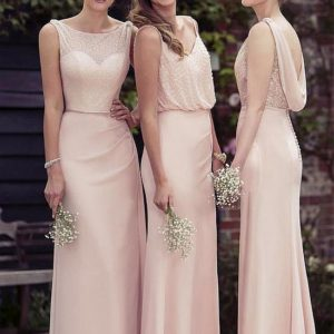 Chiffon fllor length gown