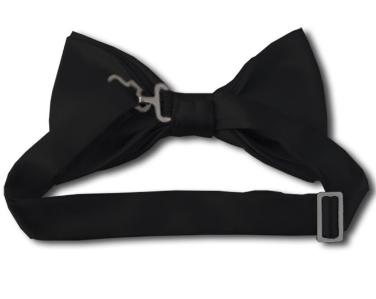Black Bow Tie Back