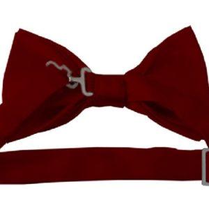 Burgundy Bow Tie back
