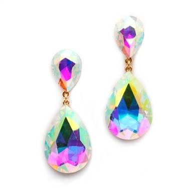 Aurora Borealis crystal dangle earrings