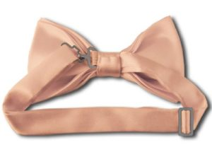 Light Salmon Bow Tie back