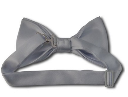 Silver Bow Tie back
