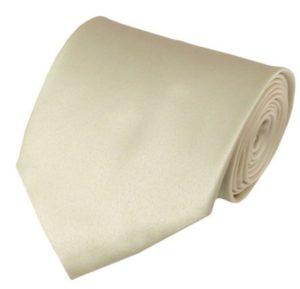 Solid Cream Tie
