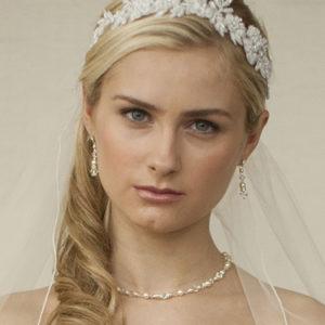 Lace bridal headband