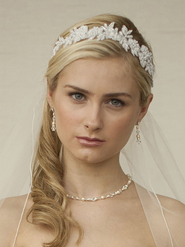 Lace bridal headband