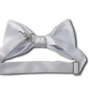 white bow back