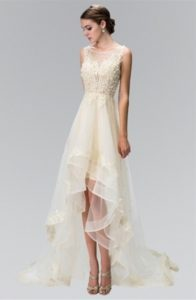 High-Low Tulle Skirt